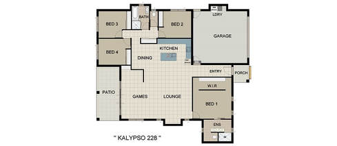Kalypso 228 Home and Land Package New Home Solutions