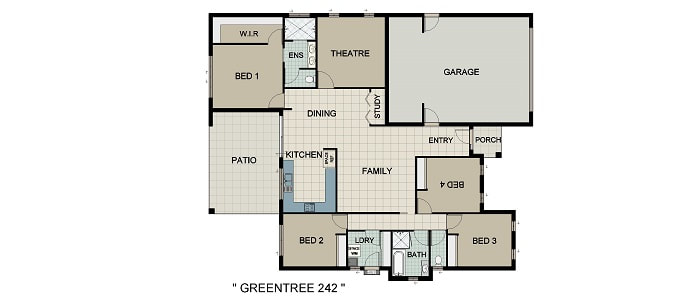 Green Tree 242 Home and Land Package New Home Solutions