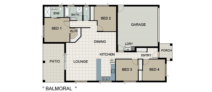 Balmoral 182 Home and Land Package New Home Solutions