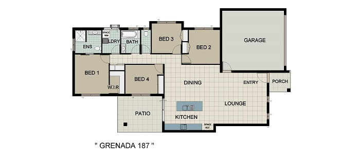 Grenada 187 Home and Land Package New Home Solutions