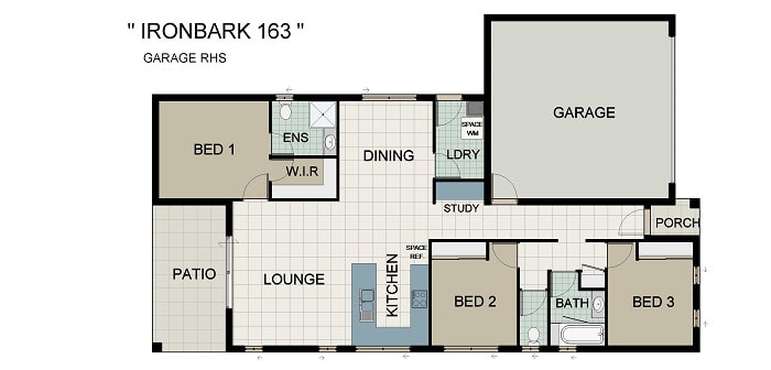 Ironbark 163 Home and Land Package New Home Solutions