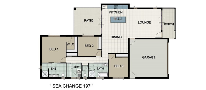 Sea Change 197 Home and Land Package New Home Solutions